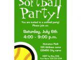 Softball Invitations Birthday softball Party Invitations for Birthdays and Bbq 5 Quot X 7