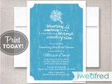 Something Blue Bridal Shower Invitations Blue Bridal Shower Invitation something Blue Invitation