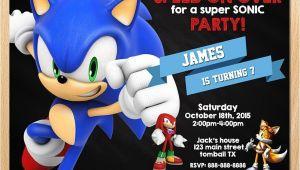 Sonic Birthday Party Invitations sonic Invitation sonic the Hedgehog Invites Sega sonic