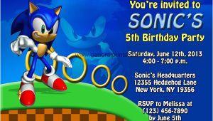 Sonic the Hedgehog Birthday Party Invitations sonic the Hedgehog Birthday Invitations Dolanpedia