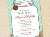 Southern Bridal Shower Invitations Sweet Wishes southern Mason Jar Bridal Shower Invitations