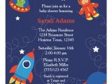 Space themed Baby Shower Invitations Outer Space Baby Shower Invitation