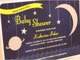 Space themed Baby Shower Invitations Over the Moon Space themed Baby Shower Invitations
