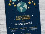 Space themed Baby Shower Invitations Space Baby Shower Invitation Outer Space Shower by