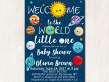 Space themed Baby Shower Invitations Space theme Baby Shower Invitations solar System Baby