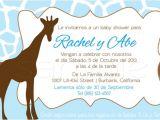 Spanish Baby Shower Invitation Wording Baby Shower Spanish