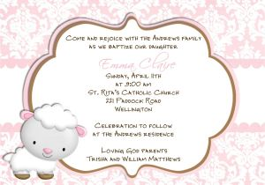 Spanish Baptism Invitation Wording Samples Baptism Invitations In Spanish Wording for Baptism