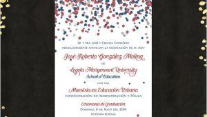 Spanish Graduation Invitations Qty 25 Spanish College Graduation Invitations Announcements