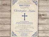 Spanish Invitations for Baptism Spanish Printable Baptism Christening Invitations Burlap Cross