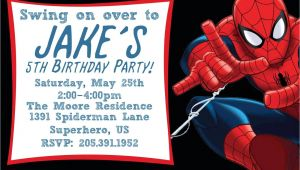Spiderman Party Invitation Template Free Free Printable Spiderman Birthday Invitation Templates