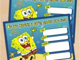Spongebob Squarepants Invitations Birthday Party Free Printable Spongebob Squarepants Birthday Invitation