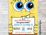 Spongebob Squarepants Invitations Birthday Party Modern Spongebob Birthday Party Invitation