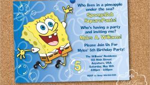 Spongebob Squarepants Invitations Birthday Party Spongebob Squarepants Birthday Party Printable Invitation