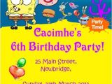 Spongebob Squarepants Invitations Birthday Party Spongebob Squarepants Invitations Cobypic Com
