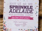 Sprinkle Birthday Invitations 17 Best Images About Rainbow Sprinkle Birthday