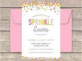 Sprinkles Birthday Party Invitations Baby Sprinkle Party Printable Baby Shower Invitation My