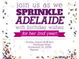 Sprinkles Birthday Party Invitations Sprinkle Party Second Birthday Party Je Vois