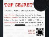 Spy Birthday Party Invitation Template Free Diy Secret Agent Birthday Party Part 1 the Mama Zone