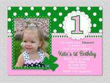 St Patrick S Day Birthday Invitations 1st Birtday Party Invitations St Patricks Day Birthday Party