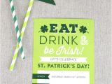 St Patrick S Day Birthday Invitations Printable St Patrick S Day Invite