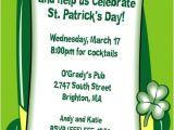 St Patrick S Day Birthday Invitations St Patrick S Day Derby Invitation