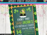 St Patrick S Day Birthday Invitations St Patrick S Day Invitation Birthday Invitation Green
