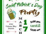St Patrick S Day Birthday Invitations St Patrick S Day Party Invitations St Patty S Day 2018