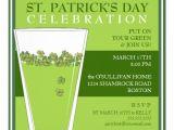 St Patrick S Day Birthday Invitations St Patricks Day Celebration Party Pint Invitation 5 25