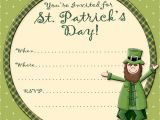 St Patrick S Day Party Invitations Angee S eventions Free St Patrick S Day Activities and
