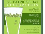 St Patrick S Day Party Invitations St Patricks Day Celebration Party Pint Invitation