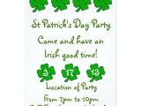 St Patty S Day Birthday Invitations St Patrick S Day Party Invitation Customizable