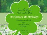 St Patty S Day Birthday Invitations St Patricks Day Party Birthday Invitation by