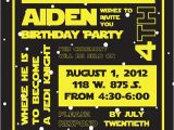 Star Wars Photo Birthday Invitations Items Similar to Star Wars Birthday Party Invitation On Etsy