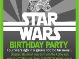 Star Wars Photo Birthday Invitations Star Wars Birthday Invitation