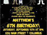 Star Wars Photo Birthday Invitations Star Wars Scroll Jedi Birthday Party Printable Invitations