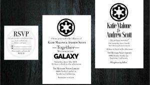 Star Wars Wedding Invitation Template Star Wars Wedding Invitation Rsvp Set