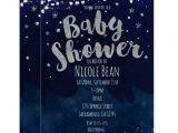 Starry Night Baby Shower Invitations Baby Shower Blue & Silver Starry Night Invitations