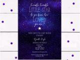 Starry Night Baby Shower Invitations Starry Night Baby Shower Invitation or Birthday Invitation