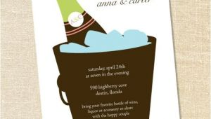 Stock Your Bar Party Invitations Sweet Wishes Stock the Bar Champagne Bucket Invitations