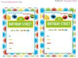 Street Party Invitation Template Free Free Printable Sesame Street 1st Birthday Invitations