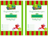 Street Party Invitation Template Free Printable Sesame Street 1st Birthday Invitations