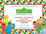 Street Party Invitation Template Sesame Street Birthday Invitation Templates