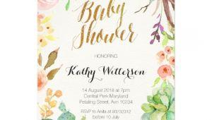 Succulent Baby Shower Invitations Succulent Cactus Baby Shower Invitation