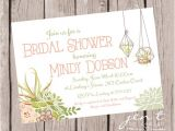 Succulent themed Bridal Shower Invitations Succulent Bridal Shower Invitations