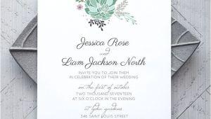 Succulent Wedding Invitation Template Succulent Printable Wedding Invitation Alchemie Press