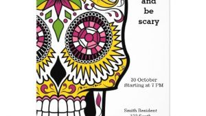 Sugar Skull Party Invitations Personalized Day Of the Dead Party Invitations