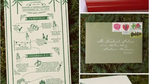 Summer Camp Wedding Invitations Real Wedding Katie Cameron 39 S Camp Wedding Green