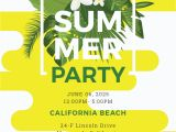 Summer Party Invitation Template Free Summer Party Invitation Template In Microsoft Word