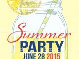 Summer Party Invitation Template Lemonade Summer Beach Party Invitation Template Stock