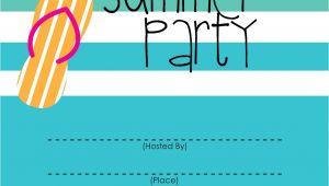 Summer Party Invitation Template Mckissick Creations Summer Party Invitation Free Printable